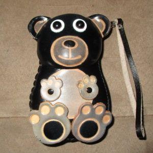 100% GENUINE LEATHER BEAR COIN WRISTLET